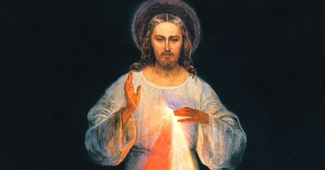 Close up of DIVINE MERCY