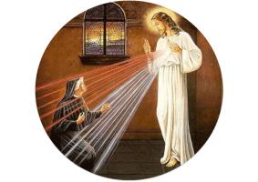 Jesus visiting Sister Faustina