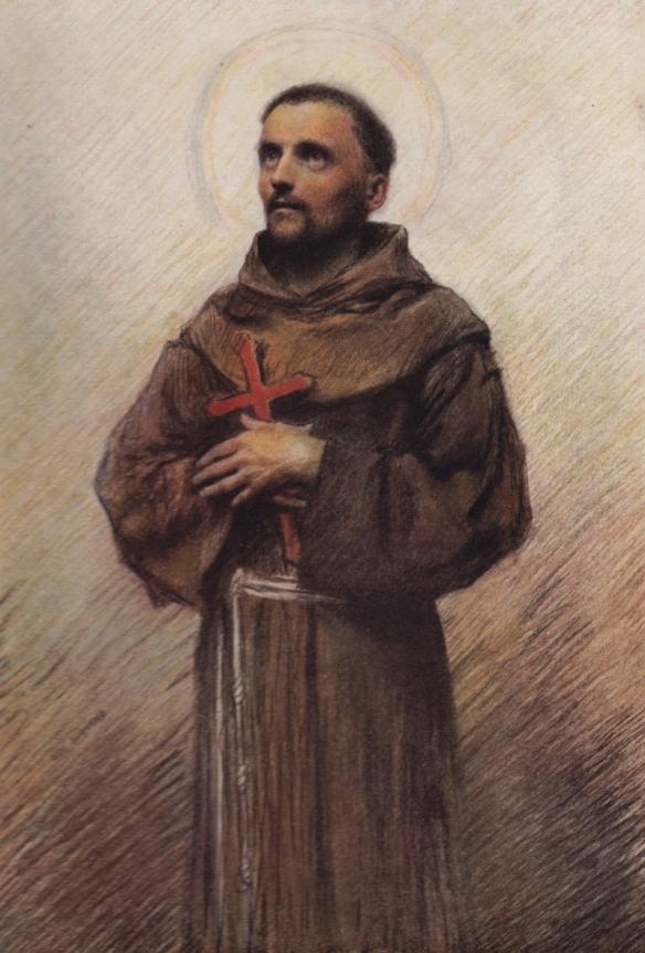 St Francis sketching