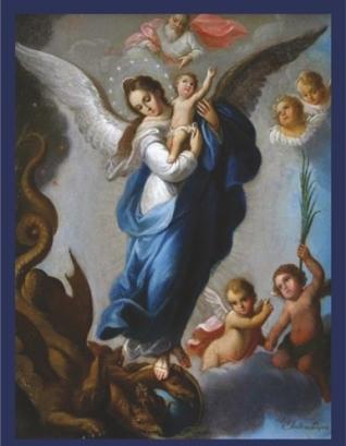 Mary crushing the head of Satan